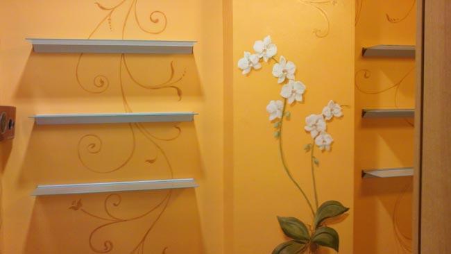 Mara beccaris decoratrice a genova photo gallery for Muri interni decorati